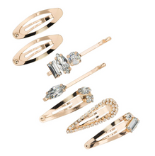 Load image into Gallery viewer, Gold Micro Stackable Snap Clips 7pc set
