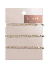 Load image into Gallery viewer, Beaded Blush Rhinestone Bobby Pins