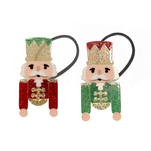 Nutcracker Glitter Hair Ties