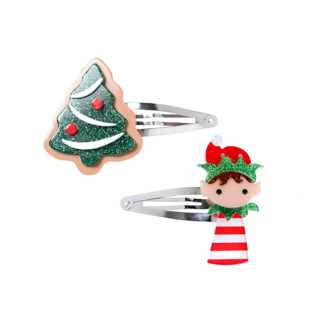 Christmas Tree and Elf Snap Clips