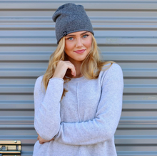 Load image into Gallery viewer, Rolled Edge Cashmere Beanies