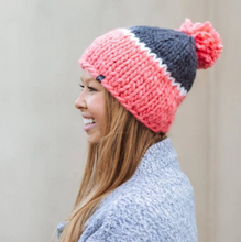 Load image into Gallery viewer, Cozy Color-Block Beanies