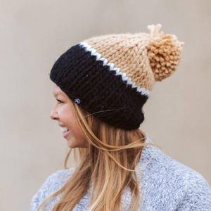 Cozy Color-Block Beanies