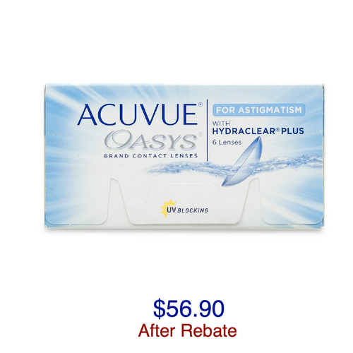 ACUVUE OASYS® for ASTIGMATISM 6-pack - Dr. Shalu Pal Optometrist