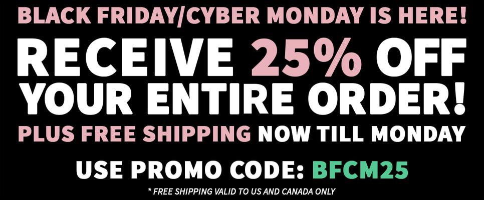 Black Friday Cyber Monday 50% Off Sale