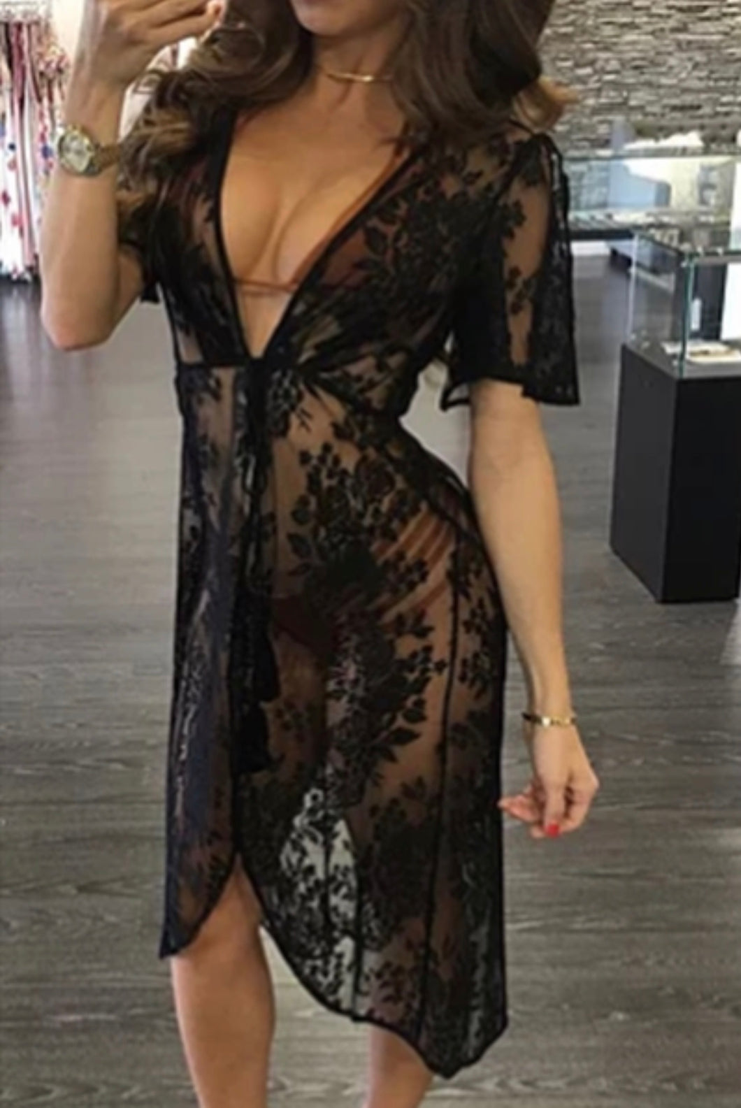 Black Lace Cover Up