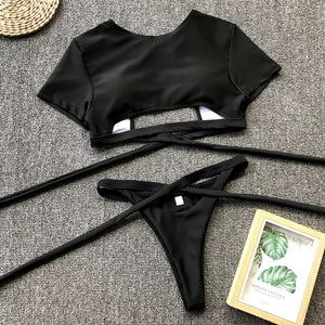 Tie Top and Bottom Swimsuit