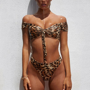 Leopard Print Sleeved 2 Piece