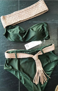 Olive Green 2 Piece Swimsuit