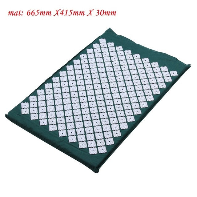 Acupressure Massage  Yoga Mat with Pillow For Back Body Pain Relieve