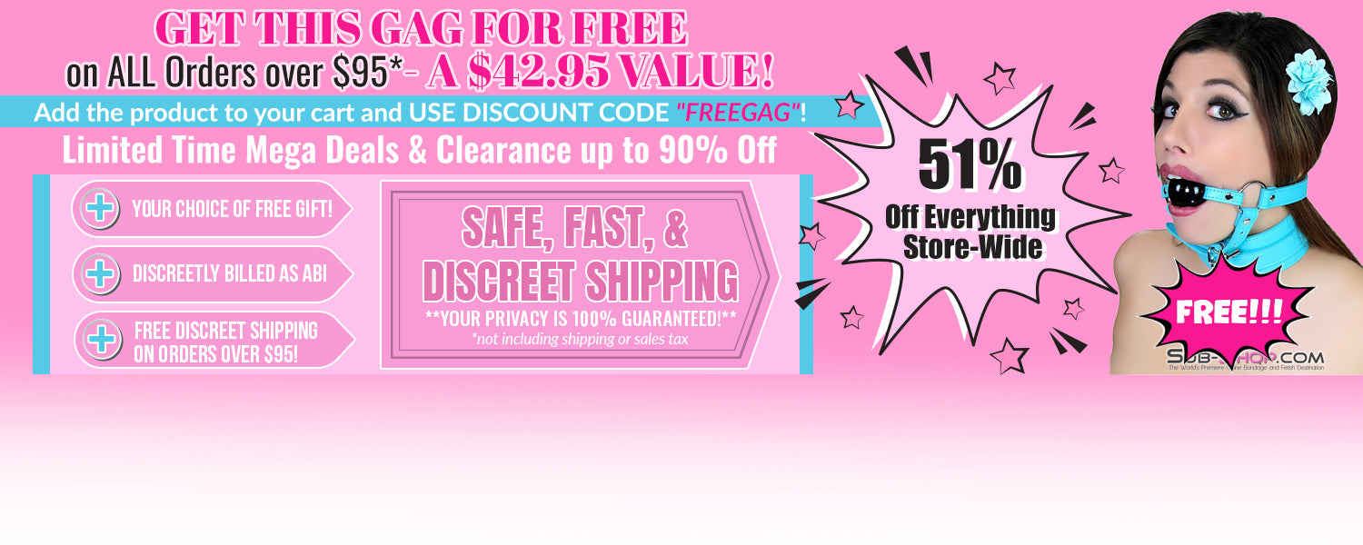 FREE GAG with $95+ purchase!