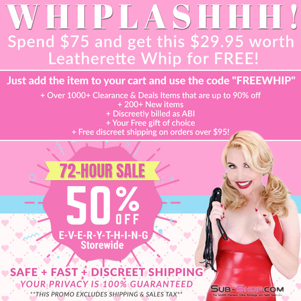 FREE Whip on Orders Over $75!