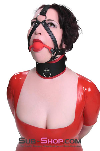 1356M      Premium Hush Red Silicone Ball Gag Harness - Sale BDSM, Bondage Gear, Adult Toys, Bondage Sex, Orgasm Belt, Male Chastity, Gags. Bondage Slave Collars, Wrist Cuffs, Submissive, Dominant, Master, Mistress, Crossdresser, Sub-Shop Bondage and Fetish Superstore