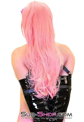 1402LB      Pink Hair, Don't Care Pretty Pink Wig with Blond Highlights - Sub-Shop.comWig - 2