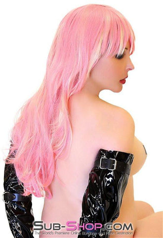 1402LB      Pink Hair, Don't Care Pretty Pink Wig with Blond Highlights