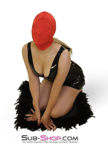 2414HS   Concealed Lust Red Spandex Hood with Blindfold Insert - Sub-Shop.comHoods - 3