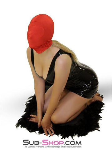 2414HS   Concealed Lust Red Spandex Hood with Blindfold Insert - Sub-Shop.comHoods - 5