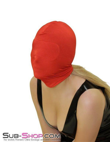 2414HS   Concealed Lust Red Spandex Hood with Blindfold Insert - Sub-Shop.comHoods - 4