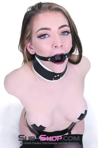 1442A-SM   Smooth Plastic Ring Gag, Small Ring