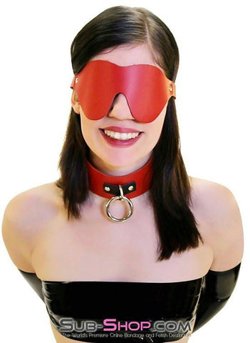 1452A    Lust in the Dark Red Leather Blindfold - Sub-Shop.comBlindfold - 3