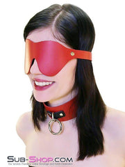 1452A    Lust in the Dark Red Leather Blindfold - Sub-Shop.comBlindfold - 1