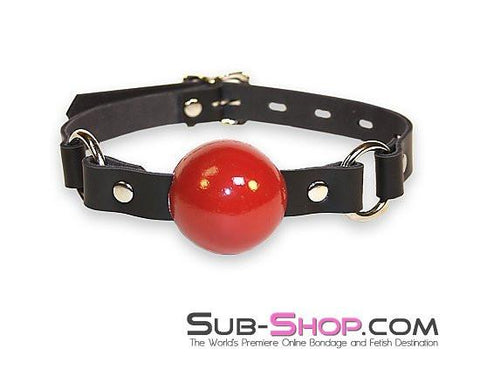 1455A   Code of Silence Locking Ball Gag Strap, Red Ball - Sub-Shop.comGags - 6