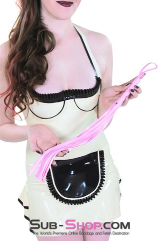"1479DL      Sissy Whip 18"" Leatherette Beginner's Flogger Whip"