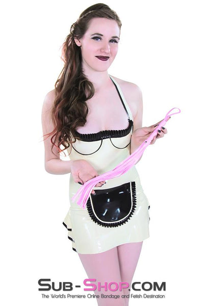 "1479DL      Sissy Whip 18"" Leatherette Beginner's Flogger Whip - Sale BDSM, Bondage Gear, Adult Toys, Bondage Sex, Orgasm Belt, Male Chastity, Gags. Bondage Slave Collars, Wrist Cuffs, Submissive, Dominant, Master, Mistress, Crossdresser, Sub-Shop Bondage and Fetish Superstore"