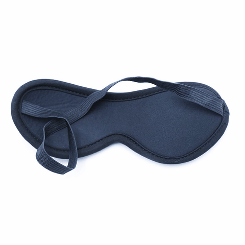 1485M      Black Quilted Love Mask Blindfold - <b>MEGA Deal</b>