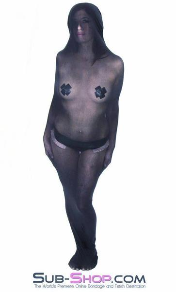 1490DL      Black Sheer Encasement Silk Stocking Full Body Sack - <b>MEGA Deal</b> - Sale BDSM, Bondage Gear, Adult Toys, Bondage Sex, Orgasm Belt, Male Chastity, Gags. Bondage Slave Collars, Wrist Cuffs, Submissive, Dominant, Master, Mistress, Crossdresser, Sub-Shop Bondage and Fetish Superstore