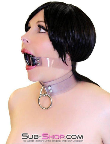 1495A    Clearly Wide Open Luxe Clear PVC Wide Strap Plastic Ring Gag - Sub-Shop.comGags - 7