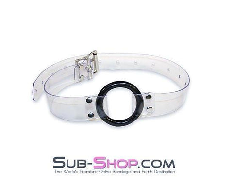 1495A    Clearly Wide Open Luxe Clear PVC Wide Strap Plastic Ring Gag - Sub-Shop.comGags - 12