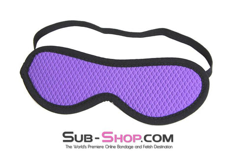 1497M      Purple Quilted Love Mask Blindfold - Sale BDSM, Bondage Gear, Adult Toys, Bondage Sex, Orgasm Belt, Male Chastity, Gags. Bondage Slave Collars, Wrist Cuffs, Submissive, Dominant, Master, Mistress, Crossdresser, Sub-Shop Bondage and Fetish Superstore