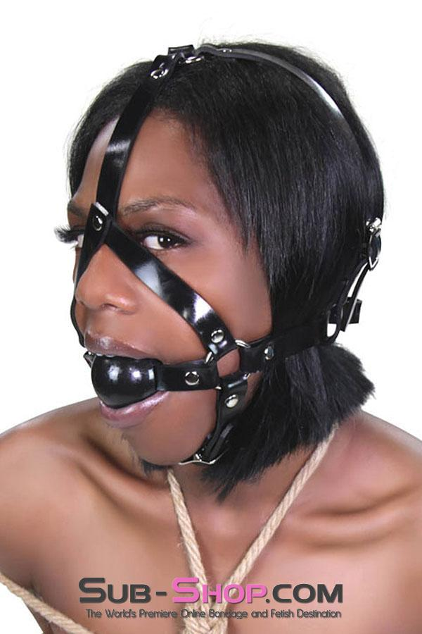 1505A      Rubber Slave Ball Gag Trainer - Sale BDSM, Bondage Gear, Adult Toys, Bondage Sex, Orgasm Belt, Male Chastity, Gags. Bondage Slave Collars, Wrist Cuffs, Submissive, Dominant, Master, Mistress, Crossdresser, Sub-Shop Bondage and Fetish Superstore
