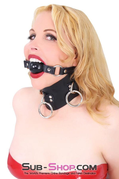 Leather Posture Training 3 Ring Bondage Collar - Sale BDSM, Bondage Gear, Adult Toys, Bondage Sex, Orgasm Belt, Male Chastity, Bondage Gag. Bondage Slave Collars, Wrist Cuffs, Submissive, Dominant, Master, Mistress, Cross Dressing, Sex Toys, Bondage Sale, Bondage Clearance, MEGA Deal Bondage, Sub-Shop Bondage and Fetish Superstore