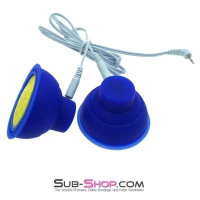1560R       Sub Shock Electro Stim Nipple Suction Cup Set with Lead Wires - Sale BDSM, Bondage Gear, Adult Toys, Bondage Sex, Orgasm Belt, Male Chastity, Gags. Bondage Slave Collars, Wrist Cuffs, Submissive, Dominant, Master, Mistress, Crossdresser, Sub-Shop Bondage and Fetish Superstore