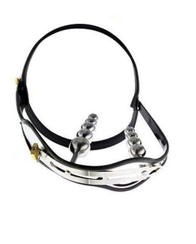 1569R      Double Jeopardy Locking Steel Female Chastity Belt with Graduated Dildo and Anal Plugs - Sub-Shop.comChastity - 2