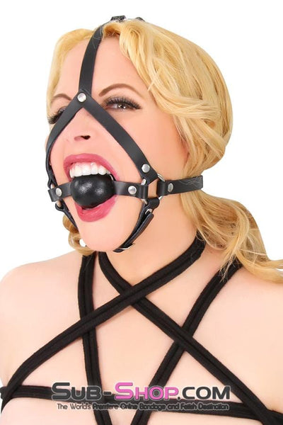 Slave's Choice Sturdy Ballgag Trainer, Black Ball - Sale BDSM, Bondage Gear, Adult Toys, Bondage Sex, Orgasm Belt, Male Chastity, Bondage Gag. Bondage Slave Collars, Wrist Cuffs, Submissive, Dominant, Master, Mistress, Cross Dressing, Sex Toys, Bondage Sale, Bondage Clearance, MEGA Deal Bondage, Sub-Shop Bondage and Fetish Superstore