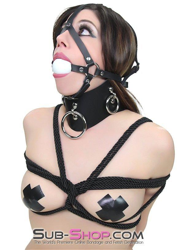 1592A  Slave's Choice Sturdy Ballgag Trainer, White Ball - Sale BDSM, Bondage Gear, Adult Toys, Bondage Sex, Orgasm Belt, Male Chastity, Gags. Bondage Slave Collars, Wrist Cuffs, Submissive, Dominant, Master, Mistress, Crossdresser, Sub-Shop Bondage and Fetish Superstore