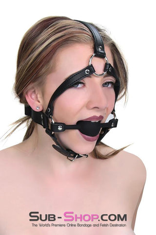1597M      Premium Hush Black Silicone Ball Gag Trainer - Sub-Shop Bondage and Fetish Superstore