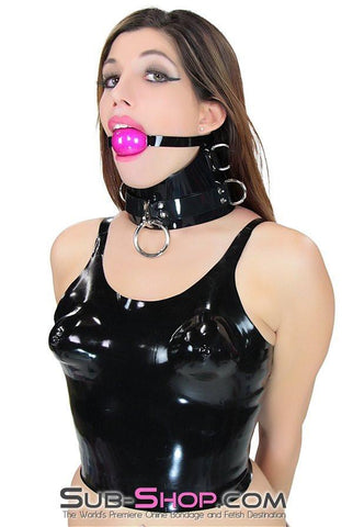 2934D      Latex Rubber Moulded Bra Crop Top