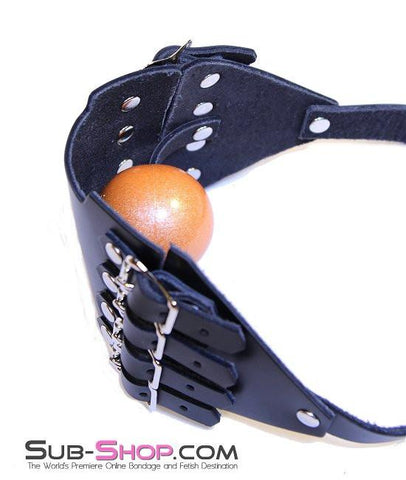 164A      8 Buckle Leather Panel Gag - Sub-Shop.comGags - 9