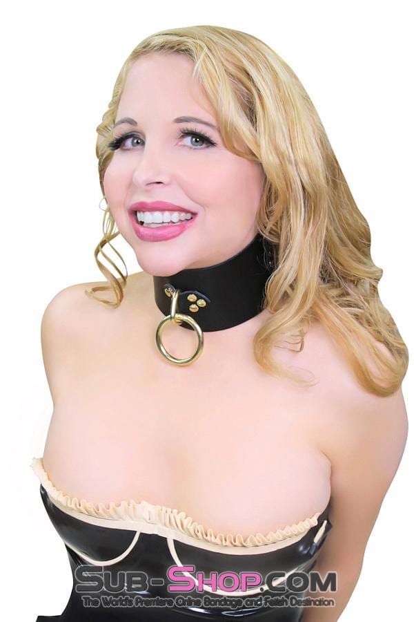Gold Standard Deluxe Black Leather Bondage Posture Collar - Sale BDSM, Bondage Gear, Adult Toys, Bondage Sex, Orgasm Belt, Male Chastity, Bondage Gag. Bondage Slave Collars, Wrist Cuffs, Submissive, Dominant, Master, Mistress, Cross Dressing, Sex Toys, Bondage Sale, Bondage Clearance, MEGA Deal Bondage, Sub-Shop Bondage and Fetish Superstore