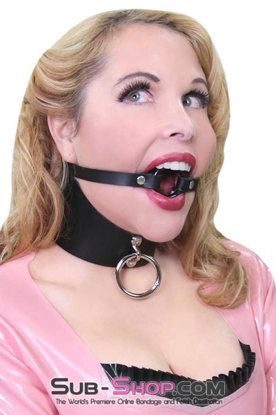 "Surrender 3"" Black Leather Posture CollarSurrender 3"" Black Leather Posture Collar"
