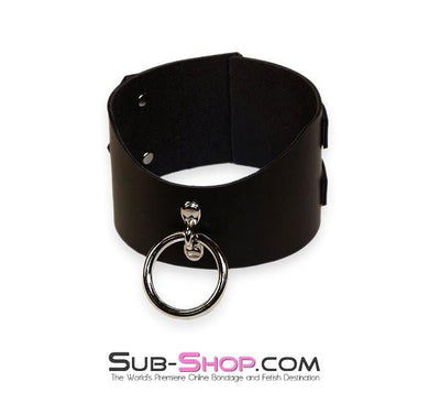 "1656A   Surrender 3"" Black Leather Posture Collar - Sale BDSM, Bondage Gear, Adult Toys, Bondage Sex, Orgasm Belt, Male Chastity, Gags. Bondage Slave Collars, Wrist Cuffs, Submissive, Dominant, Master, Mistress, Crossdresser, Sub-Shop Bondage and Fetish Superstore"