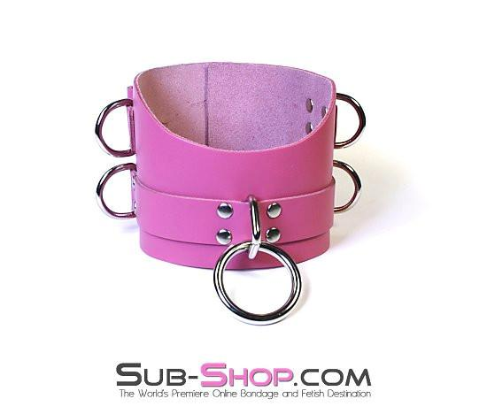 1659A      Controlled Hot Pink Leather Bondage Posture Collar - Sale BDSM, Bondage Gear, Adult Toys, Bondage Sex, Orgasm Belt, Male Chastity, Gags. Bondage Slave Collars, Wrist Cuffs, Submissive, Dominant, Master, Mistress, Crossdresser, Sub-Shop Bondage and Fetish Superstore