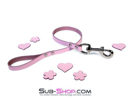 1674A      Princess Pink Leather Bondage Lead - Sub-Shop.comLeash - 2