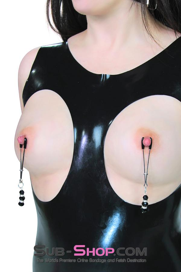 167DL      Slave Princess Jewels Nipple Clamps - Sale BDSM, Bondage Gear, Adult Toys, Bondage Sex, Orgasm Belt, Male Chastity, Gags. Bondage Slave Collars, Wrist Cuffs, Submissive, Dominant, Master, Mistress, Crossdresser, Sub-Shop Bondage and Fetish Superstore