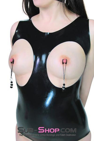 167DL      Slave Princess Jewels Nipple Clamps - <b>MEGA Deal</b> - Sale BDSM, Bondage Gear, Adult Toys, Bondage Sex, Orgasm Belt, Male Chastity, Gags. Bondage Slave Collars, Wrist Cuffs, Submissive, Dominant, Master, Mistress, Crossdresser, Sub-Shop Bondage and Fetish Superstore