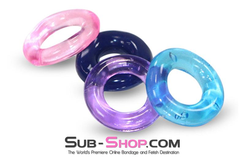 1685M      Assorted Colors and Styles Super Stretch Cock Ring - <b>MEGA Deal!</b> - Sale BDSM, Bondage Gear, Adult Toys, Bondage Sex, Orgasm Belt, Male Chastity, Gags. Bondage Slave Collars, Wrist Cuffs, Submissive, Dominant, Master, Mistress, Crossdresser, Sub-Shop Bondage and Fetish Superstore